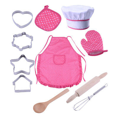 11pcs Kids Kitchen Cooking Baking Pretend Role Play Toy Set Chef Role Play Toy