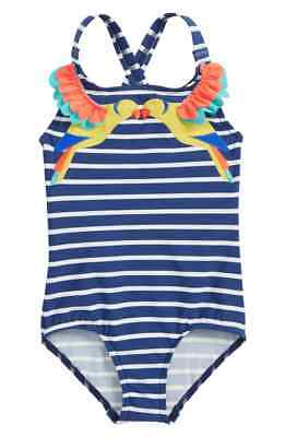 Mini Boden Tropical Birds One-Piece Swimsuit Girl 3-4Y ~NWT~