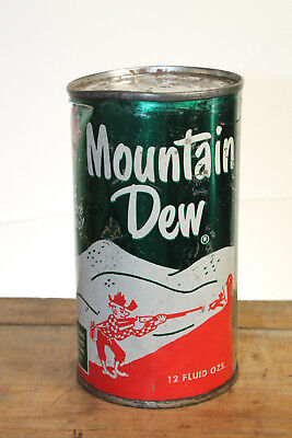 Vintage Flat Top Hillbilly Style Mountain Dew Can