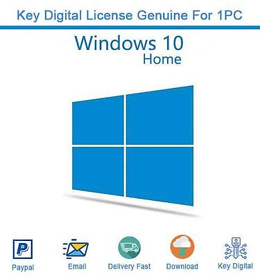 Genuine Windows 10 Home 32/64 Bit Product Key with Download Links Activation