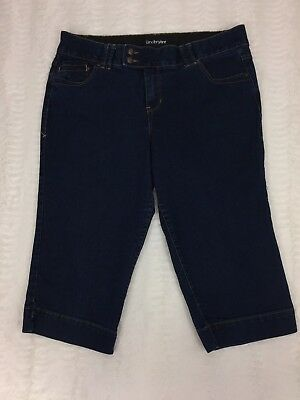 Lane Bryant Womens Jeans Size 16 Dark Wash Denim Capri Tighter Tummy Technology