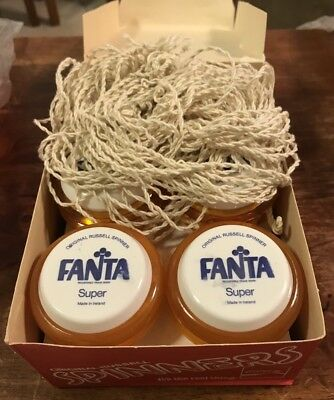 UNUSED 2 FANTA RUSSELL Coca Cola YoYos +10 RUSSELL STRINGS 1980s *SECONDS GRADE*