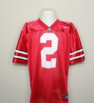 Nike NCAA Ohio State Buckeyes  2 Kids Youth Red Mesh Football Jersey Sz M 12 fdd85b35a