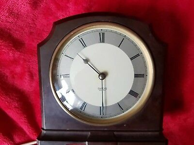 Antique 1940s Smith Sectric Electric Art Deco Mante Clock Brown Bakelite