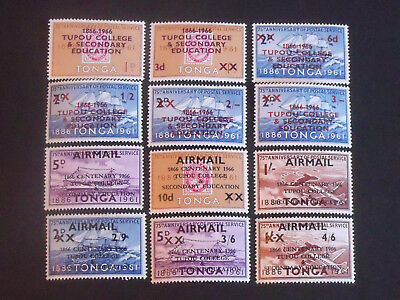 Early Tonga Stamps Various Airmail Overprints Fresh MM