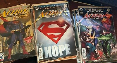 Action Comics Rebirth Comic Lot Issues 979-100 and the Action Comics Special