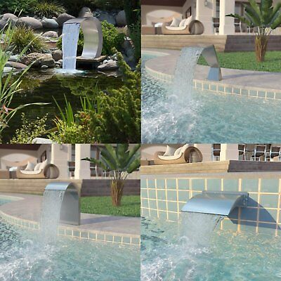 SWIMMING POOL WATERFALL Fountain Stainless Steel Water ...