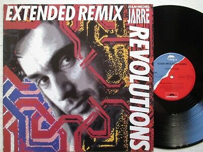 """JEAN-MICHEL JARRE: Revolutions (Extended Remix) 12""""-MAXI- GER 1988 POLYDOR synth"""
