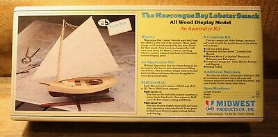 Vintage The Muscongus Bay Lobster Smack All Wood Display Model Kit In Box Boat +