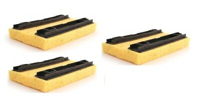 3 x Bentley Deluxe Hinge Floor Mop Refill Sponge Mop Refill In Yellow 20 x 14cm