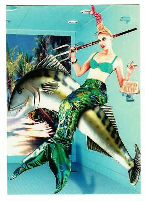 mermaid postcard-unusual