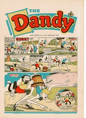 Dandy Comic # 1431 April 26th1969 Korky The Cat Desperate Dan