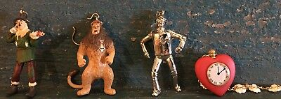 Hallmark Keepsake Wizard Of Oz Miniature Tin Man Lion Scarecrow Heart Unboxed
