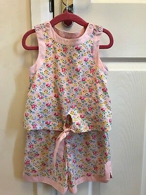 Next Girls' Pink Ditsy Floral Playsuit Age 4 Years Excellent Condition