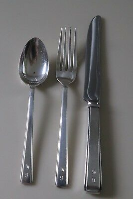 Lunt Sterling Modern Classic - Vintage Art Deco Youth Set - Use Or Buy For Scrap