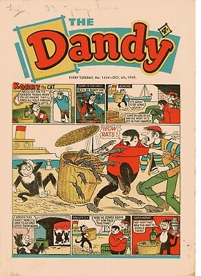 Dandy Comic # 1454 October 4th 1969 Korky The Cat Desperate Dan