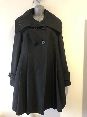 ASOS Black Maternity Coat. Size 10