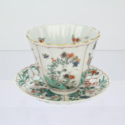 Antique Famille Verte Chinese Porcelain Cup & Saucer For Repair - PC