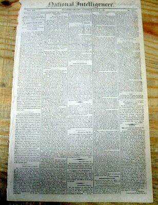 1814 War of 1812 newspaper US ARMY Victory at BATTLE OF CHIPPAWA Ontario CANADA