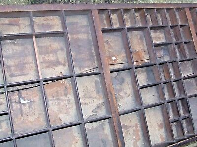 Letterpress Printing OLD JAMES MARR & CO WOODEN TYPECASE Compositor Case Tray