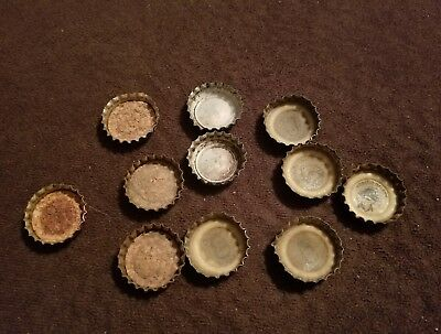 Lot of 1969 Pop Bottle Caps Some Cork Lining BIG NAME BINGO COKE NEHI PEPSI