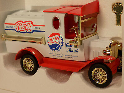 Golden Wheels 31411 Pepsi Cola Tanker Truck Coin Bank Die Cast  NOS