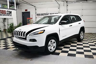 2016 Jeep Cherokee NO RESERVE 2016 Jeep Cherokee Sport 4x4 Rebuildable SUV Repairable Damaged Wrecked