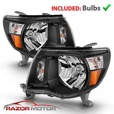 For 2005-2011 Toyota Tacoma TRD Style Black Headlights 2006 2007 2008 2009 2010