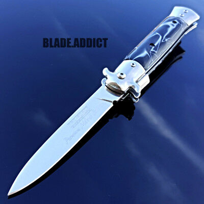 """9"""" TAC FORCE Italian Stiletto Tactical Spring Assisted Open Pocket Knife-H"""