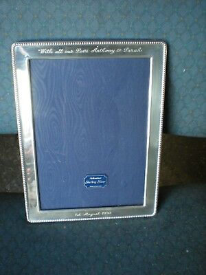 solid silver hallmarked photo frame g k & c k kitney & co 8.5 inches by 6.5