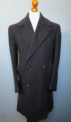 . Vintage 1950's French double breasted 3/4 overcoat size 42