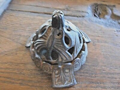 Antique Cast Iron Art Deco Vantines Figural Incense Burner  477