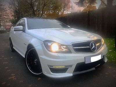Mercedes-Benz C63 Amg Coupe Performance Pack Plus Pearl White Low Miles Fmbsh