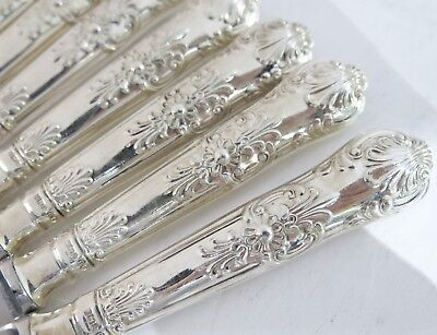 """12 English Queens Pattern Dinner Knives 9.75"""" (English Kings) Sterling Silver"""