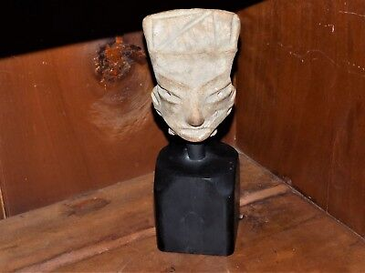 Pre-Colombian Hand-Carved Terracotta Head ( 700 B.C - 1200 A.D)