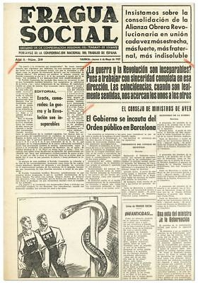 [Spanish Civil War] FRAGUA SOCIAL Collection of 49 issues 1937 Very Good +