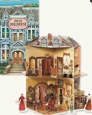 Victorian Trading Co Pop Up Dollhouse Book Three-Dimensional