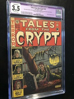 Tales From The Crypt 22 EC Comics 1951 CGC 3.5 (R) Classic Cover