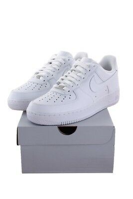 Men Nike Air Force 1 Low All White Sz 8 Shoes