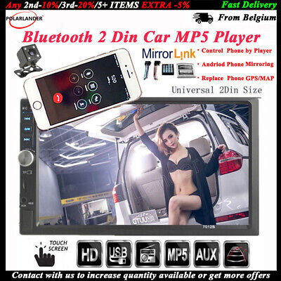 7'' Car Radio MP5 player Touch screen Bluetooth 2 Din Stereo FM Headunit Camera