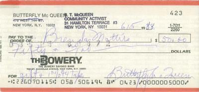 Butterfly McQueen Signed Check