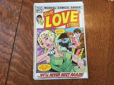 Marvel Romance Comic Book. Our Love Story, #14, 1971.