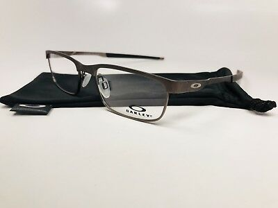 a1ae2a0f77b 🔸New Oakley OX3222-0252 Powder Cement STEEL PLATE Eyeglasses 52mm with Bag