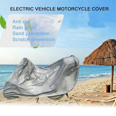 Full Silver Motorcycle Scooter Waterproof UV Dust Protector Rain Cover Size M
