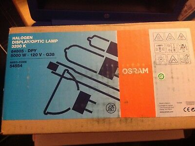 Osram 5000W 120V DPY Bulb 3200K  New in Box  G38  5K Mole Arri
