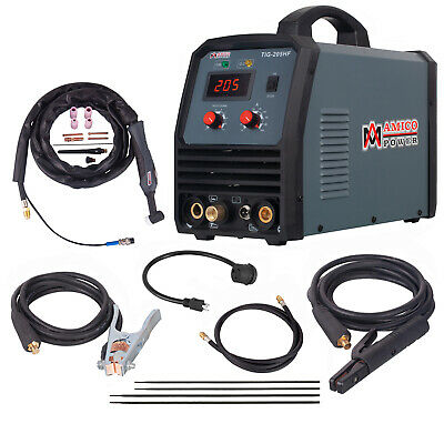 TIG-205, 200 Amp HF-TIG Torch Stick ARC Welder 115V & 230V Inverter Welding