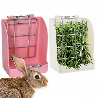 2in1 Food Feeder Grass Frame Small Pet Rabbit Chinchilla Food Water Bowl