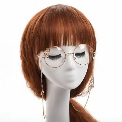 Vintage Gothic Steampunk Glasses Gear Chain Unisex Glasses Cosplay Props Deco