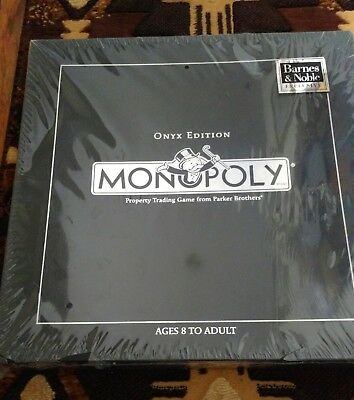 New black onyx collector's edition monopoly board game barnes.