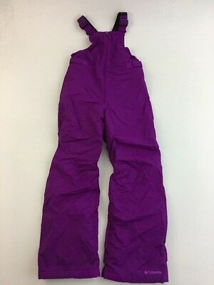 Columbia Girls Sz L (14-16) Bib Ski Winter Snow Pants Deep Blush 8A15-1118
